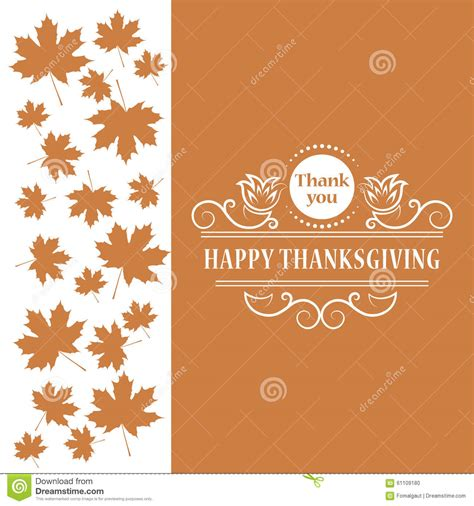 happy thanksgiving maple leaf vintage design for happy