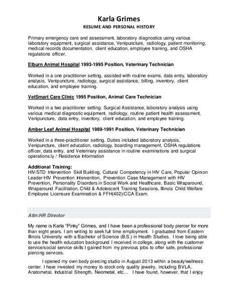 Outpatient Cover Letter by Karla Grimes Resume Cover Letter