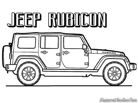 Jeep Cheerooke Sablon gambar mobil untuk diwarnai anak tk