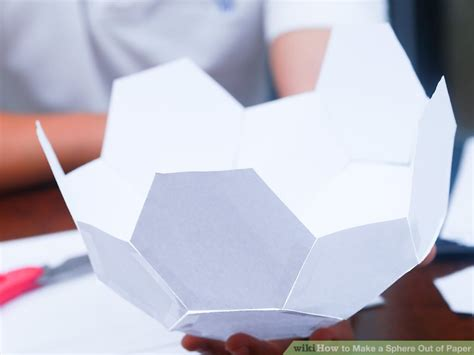Make A Paper Sphere - 3 ways to make a sphere out of paper wikihow