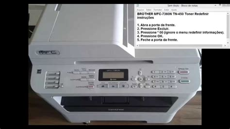 resetting brother toner brother mfc 7360n eliminando a mensagem substituir toner