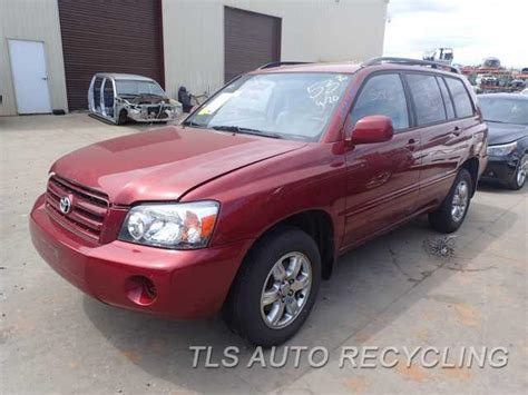 toyota highlander parts parting out 2004 toyota highlander stock 6109gr tls