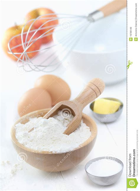 ingredients to make a cake royalty free stock images