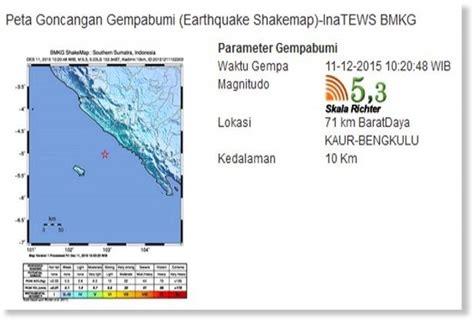 earthquake bengkulu 5 3 magnitude earthquake jolts bengkulu indonesia