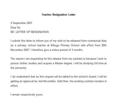 Resignation Letter Terms by 31 Resignation Letter Template Word Pdf Ipages Free Premium Templates
