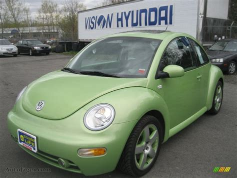 green volkswagen beetle 2003 volkswagen new beetle gls 1 8t cyber green color