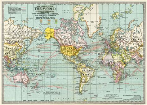 Decoupage World - cavallini co world map decorative decoupage poster