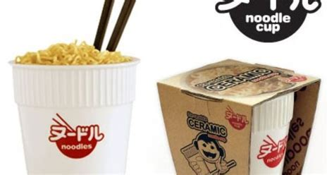 Cup Noodles Goes Refillable by Reusable Ceramic Noodle Cup Take Away Inspiration