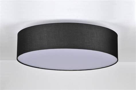 deckenleuchte rund stoff deckenleuchte 71272 modern stoff schwarz rund