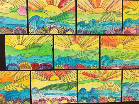 apex elementary art whimsical landscapes