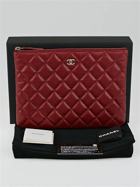 Chanel Zp chanel fonce quilted caviar leather medium o zip pouch yoogi s closet