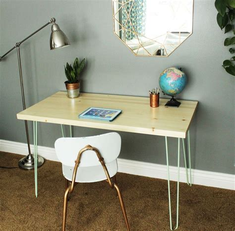 Diy Contemporary Hairpin Leg Desk