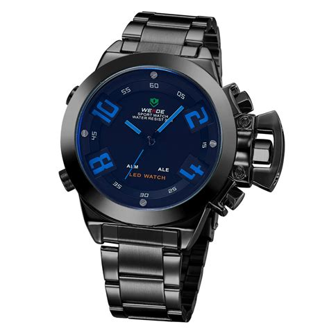 Aaf179 Weide Stainless Sports 30m Water Resist Jam Tangan Wh1101 weide japan quartz stainless led sports 30m water resistance wh1008 black