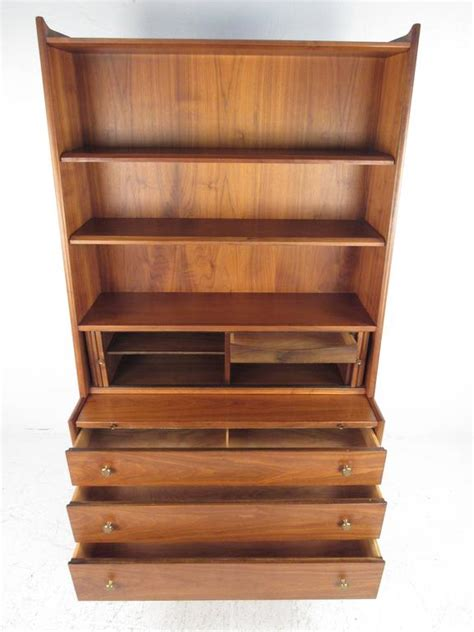 Bookcase Writing Desk by Mid Century Modern Bookcase With Writing Desk By Kipp