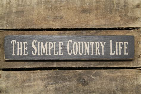 Country Primitive Home Decor Catalogs by Quot The Simple Country Life Quot Wood Block