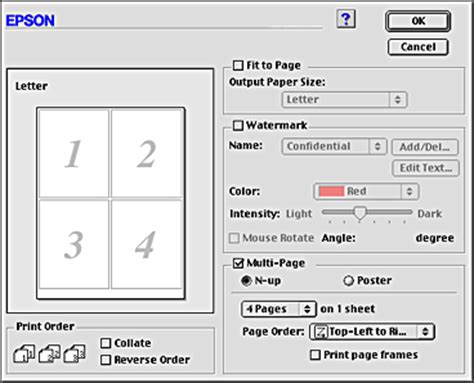 print layout word mac print multiple pages on one page mac how to print