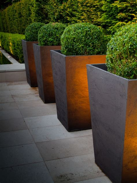 modern planters and pots minimalist garden and landscape design ideas founterior