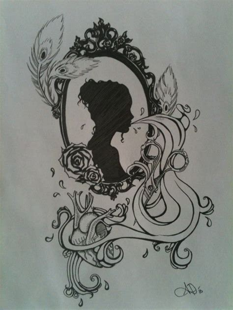 cameo tattoo designs cameo graphics rabiscos