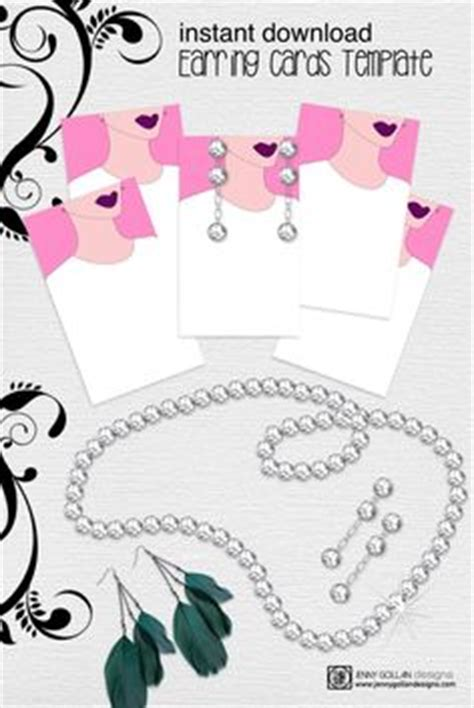 printable necklace card template 1000 images about jewelry displays on earring