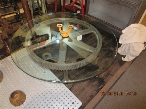 Top Gear Coffee Table Industrial Gear Coffee Table With Glass Top Bad Picture But Table Kyle Danielle