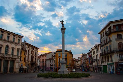 italia vicenza an iconic view of piazza xx settembre in vicenza italy