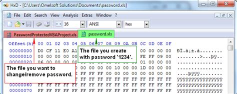remove vba password excel 2003 hex editor change remove the password of a password protected vba