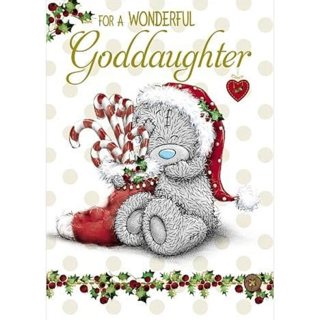 Wedding Wishes Goddaughter by Wonderful Goddaughter Me To You Card