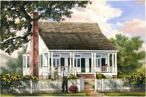 William E Poole Designs Cajun Cottage Small Cajun House Plans