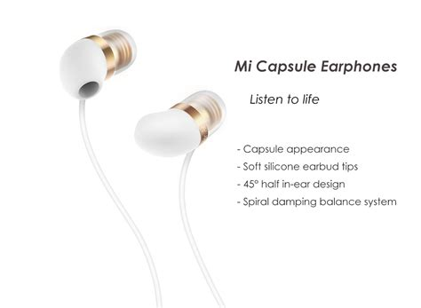 Silicon Earbuds 45 Degree Earphone White Putih 1 xiaomi mi capsule earphones 45 degrees half in ear design with mic white shopping on