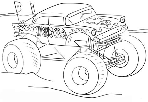 coloring pictures monster jam trucks 10 monster jam coloring pages to print
