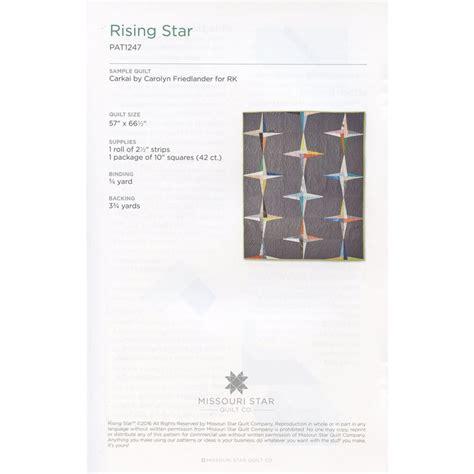 rising star pattern grading system rising star quilt pattern by msqc sku pat1247 missouri