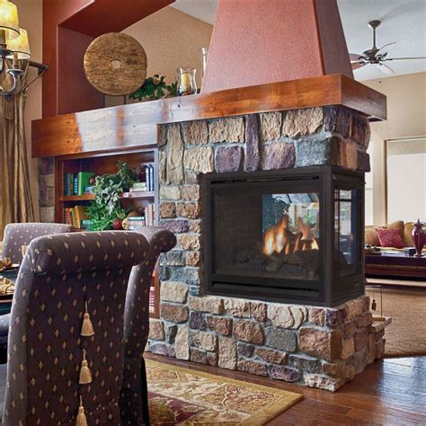 17 best ideas about 3 sided fireplace on