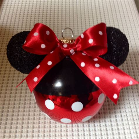 Minnie Mouse Handmade Decorations - my 1st minnie mouse ornament i made for my disney tree