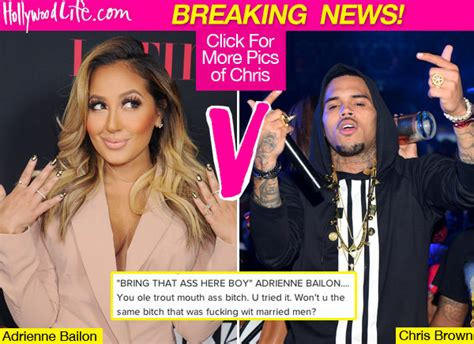 adrienne bailon responds to chris brown calling a chris brown disses adrienne bailon after the real see