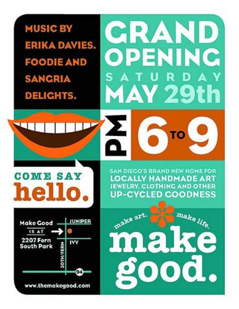 nice layout for a grand opening flyer thrift store ideas