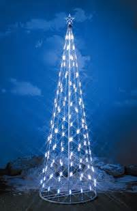 light string christmas cone tree