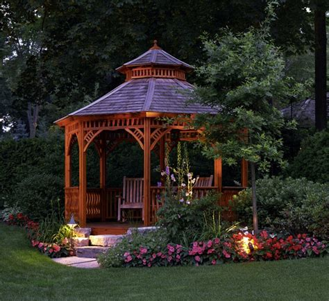 gazebo in garden 41 stunning backyard landscaping ideas pictures