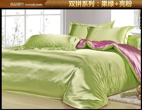 pink and green bedding apple green pink silk satin bedding set sheets linen bed