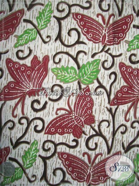 Batik Kupu bahan blus batik motif kupu warna merah maroon asli batik