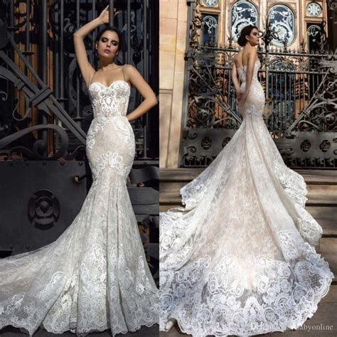 2018 Mermaid Wedding Dresses Sweetheart Fitted Lace