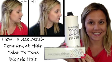 demi permanent hair color how to use demi permanent hair color to tone hair