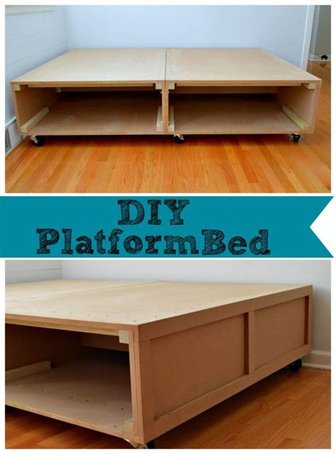 The Bed Storage On Wheels by Building A Diy Platform Bed With Tons Of Storage And