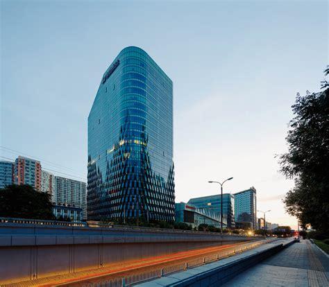 designboom beijing spark designs pleated mian xin cheng development in beijing