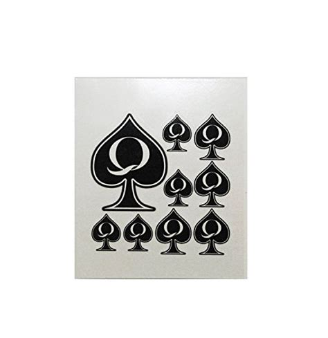 queen of spades temporary tattoo 5 sheet of spades temporary pack total 45