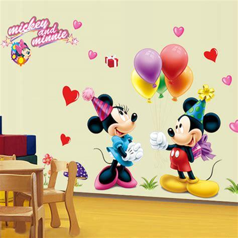 hot mickey mouse minnie vinyl mural wall sticker decals new cartoon mickey mouse minnie vinyl mural wall sticker