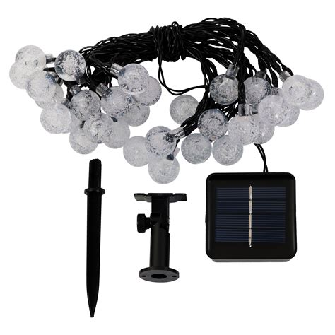 solar string lights outdoor patio solar powered garden outdoor patio string lights