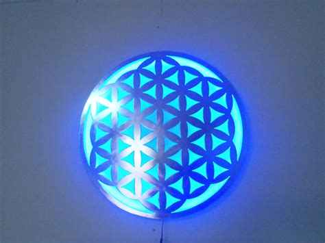 Led Light Wall Decor by Flower Of Metal Wall L With Led Lights Wall
