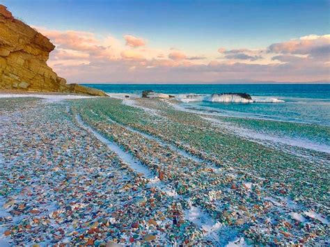 russian beach glass beach on ussuri bay amusing planet