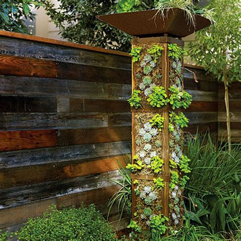Building Vertical Garden Diy A Vertical Garden Tower Sunset Apartment Therapy
