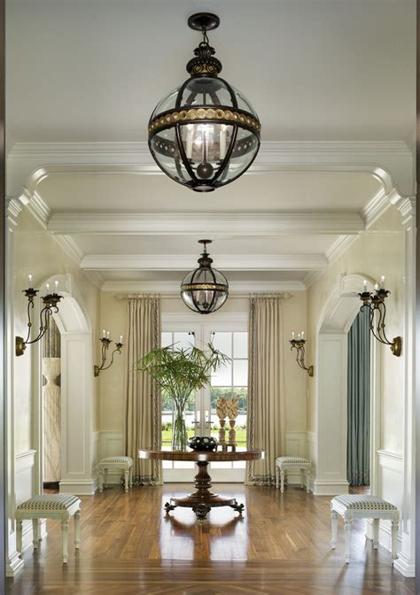 Hallway Chandeliers Hallways Entrances Focal Points Decorating Designing Ideas Furniture Rugs Mirrors